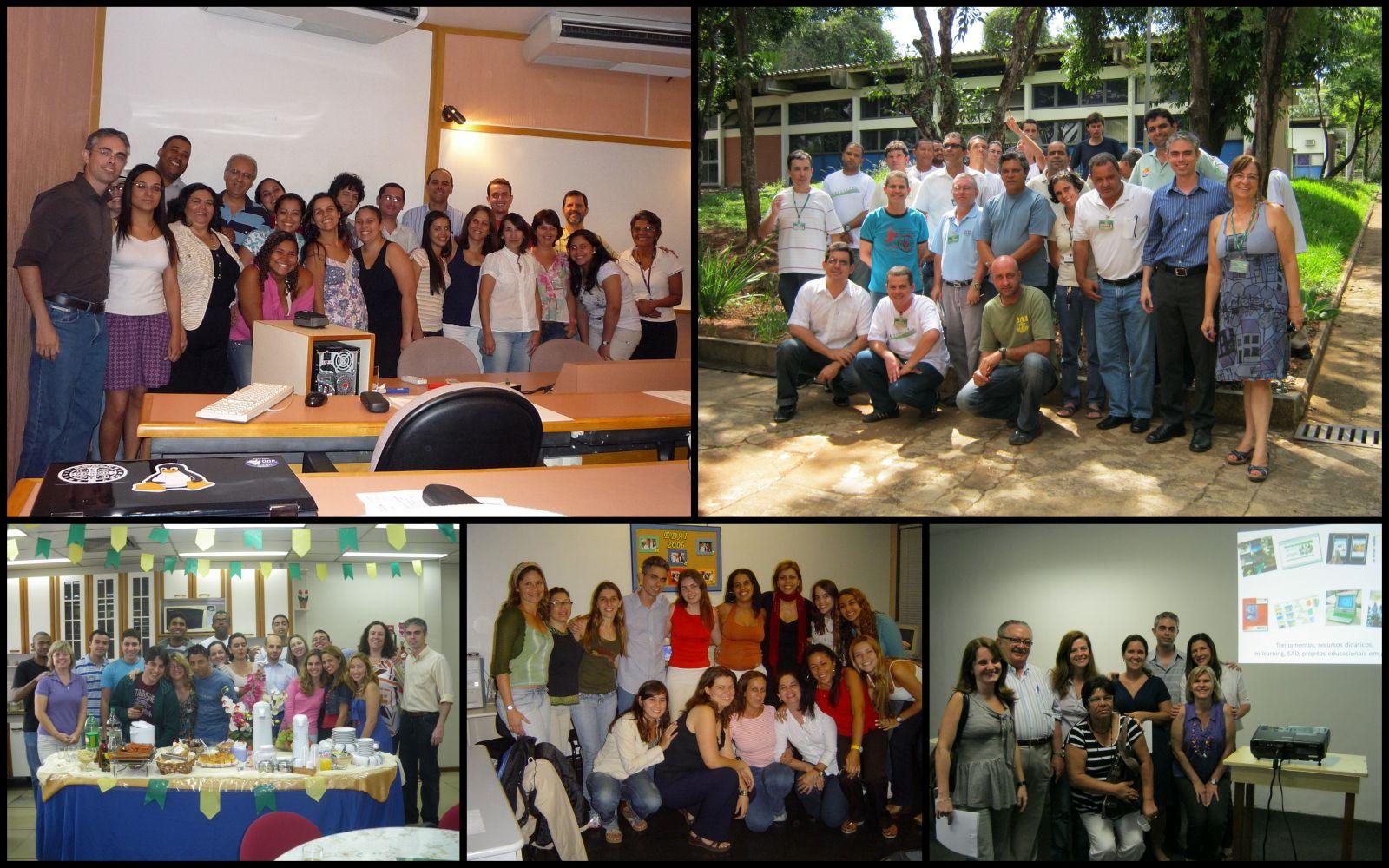 Com turmas de alunos das Pós-graduações em Tecnologia Educacional da UERJ e UFRJ, turma da Educação Corporativa da CEMIG, e turma de minicurso em seminário da ABT - Associação Brasileira de Tecnologia Educacional.